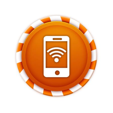 wireless signal: wireless signal icon Stock Photo