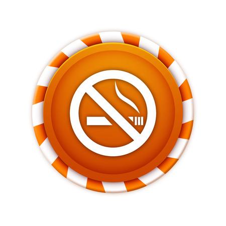 pernicious habit: Christmas theme icon, no smoking