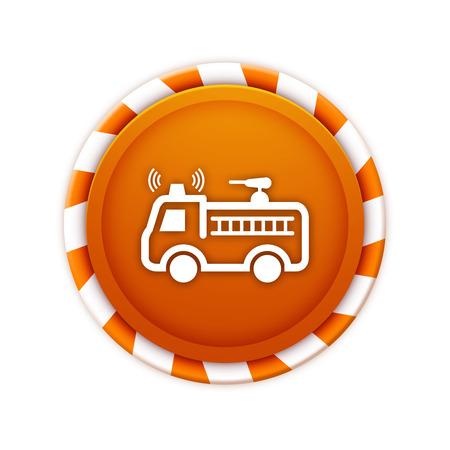 Christmas theme icon, firetruck  photo