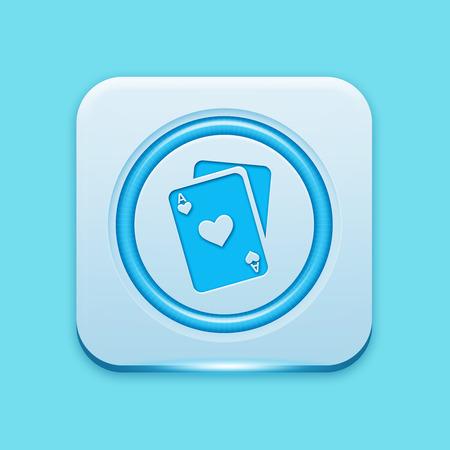Blue icon edge light photo