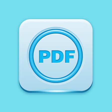 L'icône bleue bord lumière Banque d'images - 26872566