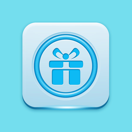 giftware: Blue icon edge light