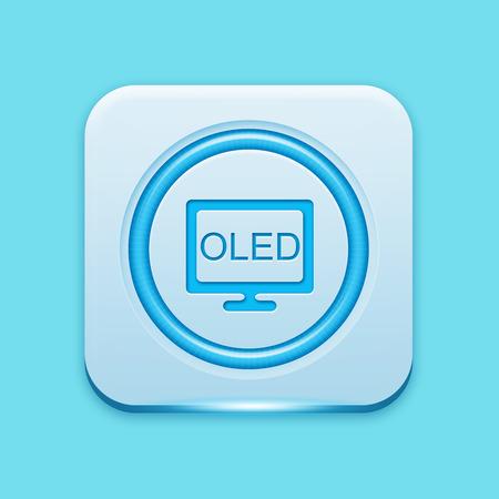 oled: Blue icon edge light