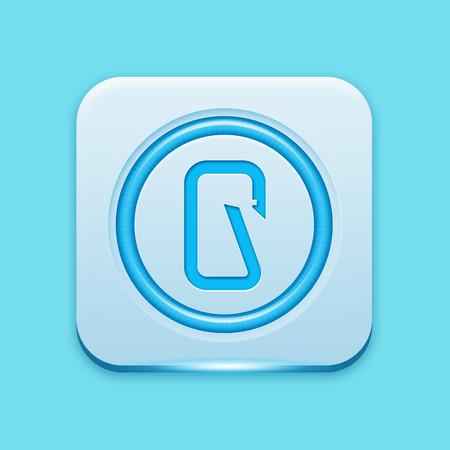 carabiner: Blue icon edge light