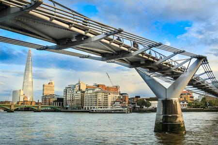 amasing: Millenium bridge in London Stock Photo