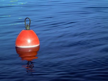 chillout: Buoy on a blue