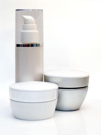 suntan lotion: Creams Stock Photo
