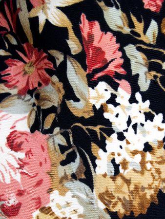 batik: Un vieux backround textile avec des fleurs roses et blancs