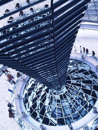 futurism: Berlin, Reichstag dome - central column
