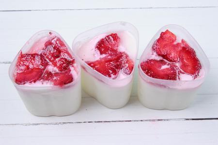 Homemade yogurt with strawberries multi cooker