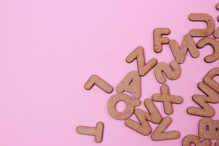 verbs: alphabet letters Stock Photo