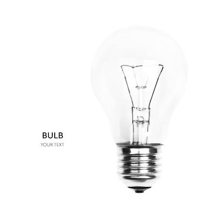 Light bulb isolated on white background Imagens