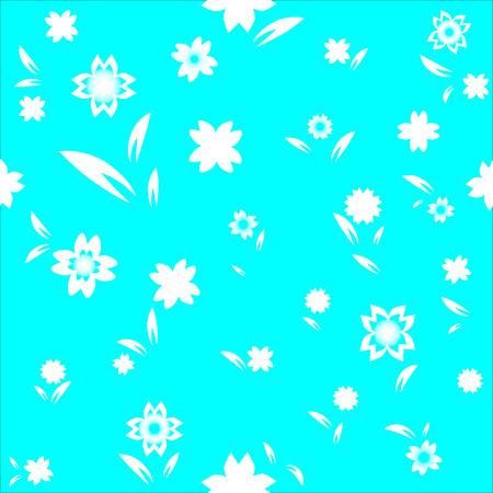 Bloemen aquamarijnachtergrond
