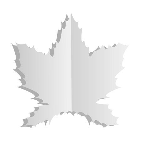 free fall: Maple leaf. Illustration