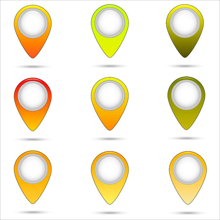 Yellow mark. Illustration