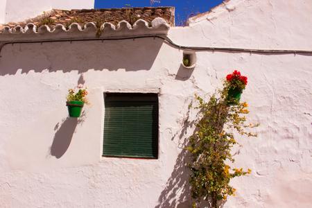 Spanish house. Beautiful architecture. Mediterranean style. Decoration. Costa del Sol, Andalusia, Spain.