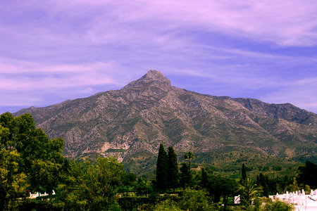 Mountain. Beautiful view. Costa del Sol, Andalusia, Spain. Stock Photo