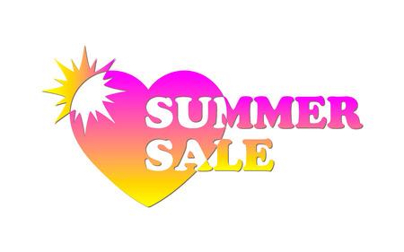 Comes out. Summer sale banner. Business design. Vector illustration.