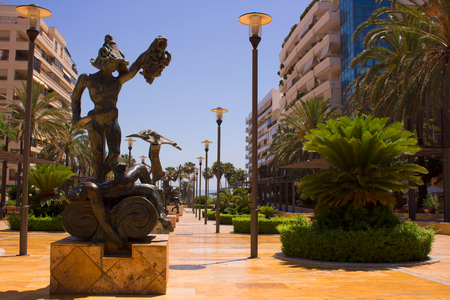 Salvador Dali sculpture pictured on June 2017, in Marbella city. Costa del Sol, Andalusia, Spain. Editorial