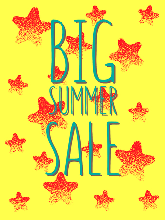 discount banner: Comes out. Summer sale promotion banner. Colorful vector illustration.
