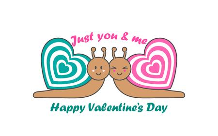 Valentines Day greeting card. Web banner. Vector illustration. Illustration