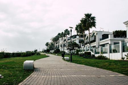 Park. City Park in the beach. Estepona, Costa del Sol, Andalusia, Spain.