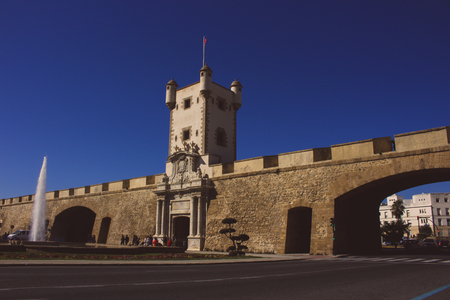 Wall. Earth Gate. Cadiz. Picture taken on February 10, 2018.