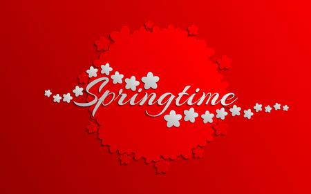 Springtime decoration banner. Greeting card Vector illustration.