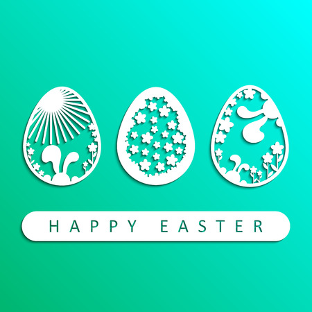 Happy Easter. Easter greeting card. Vector illustration.