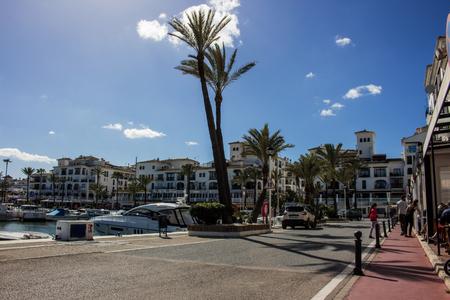 Port. Port of Manilva, Marina La Duquesa, Estepona, Andalusia, Spain. Picture taken on 8 april 2018. Editorial