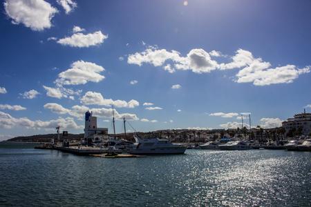 Port. Port of Manilva, Marina La Duquesa, Estepona, Andalusia, Spain. Picture taken on 8 april 2018.
