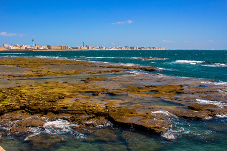 Cadiz view. A sunny day in Cadiz. Andalusia, Spain.