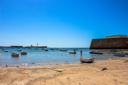 """Beach. A sunny day on the beach of Cadiz. Andalusia, Spain. Picture taken ? ? """"6 May 2018."""