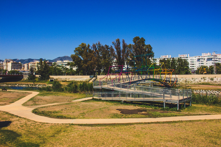 Park. A sunny day in the park Fuengirola in Fuengirola. Stock Photo