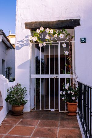Door. Traditional Spanish door. Benahavis village, Costa del Sol, Andalusia, Spain. Picture taken? 23 september 2018.