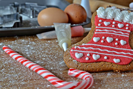 gingerbread stocking making photo