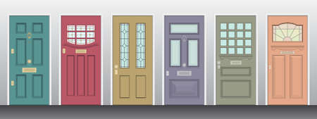 Building Set consisting of 6 Single panel front Doors