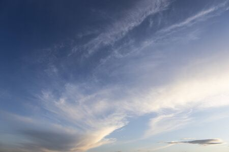 Cirrus clouds high in the sky. Background and texture for text writing