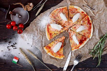 Hot Homemade Pizza Ready to Eat