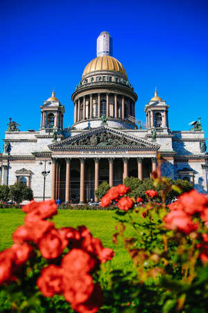 St. Isaacs Cathedral in summer in Sunny weather, St. Petersburg, Russia, 2017