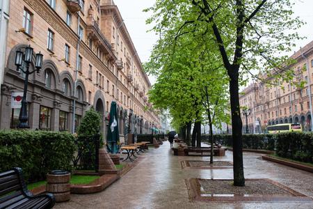lenina: boulevard on Lenina Street