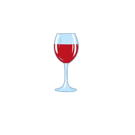 Wine glass filled line pictogram icon, line vector sign, linear colorful pictogram isolated on white. Symbol, logo illustration. Ilustração