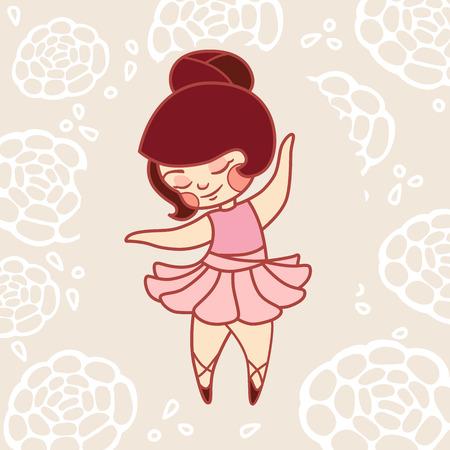 little girl dancing: Little girl dancing ballet in a pink dress