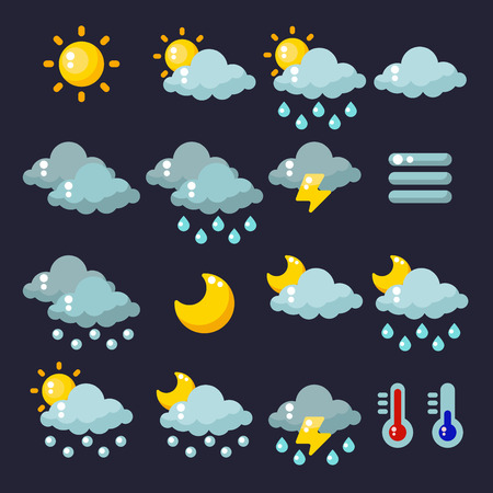 meteorology: Meteorology icons set. Vector illustration Illustration