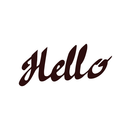 Hello inscription. Hand drawn lettering poster. Vector calligraphy
