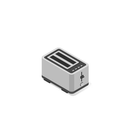 Kitchen electric toaster. Vector isometric illustration