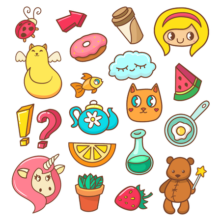 cute bear: Fashion patches, pins, badges and stickers. Pop art collection in cartoon 80s-90s style. Vector illustration isolated on white background.