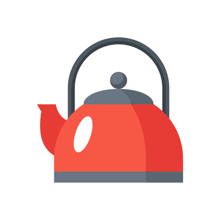 Kettle icon in a flat style. Sign design. Vector illustration isolated on white background