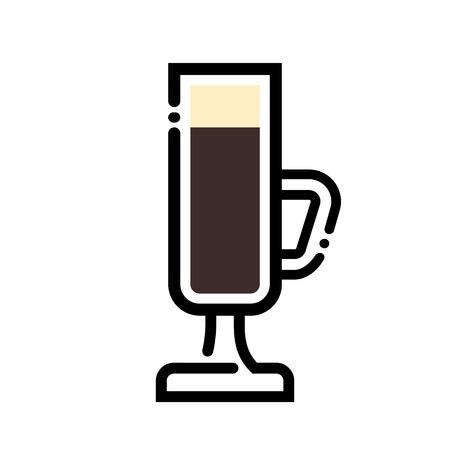 Coffee cup line art illustration. Ilustração