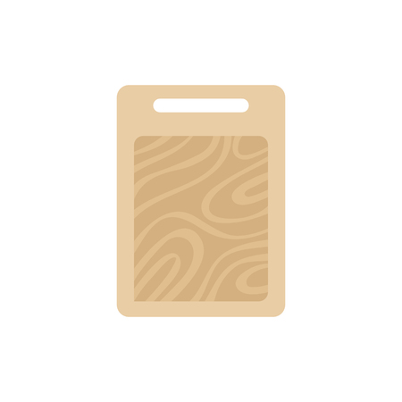 Wooden chopping or cutting board vector illustration